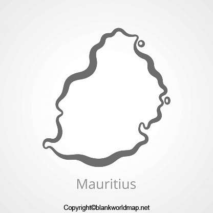 Map of Mauritius for Practice Worksheet