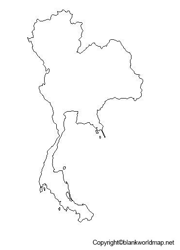 Map of Thailand for Practice Worksheet