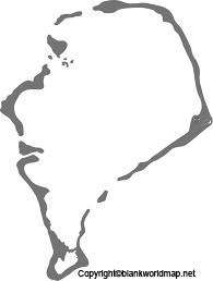 Map of Tuvalu for Practice Worksheet