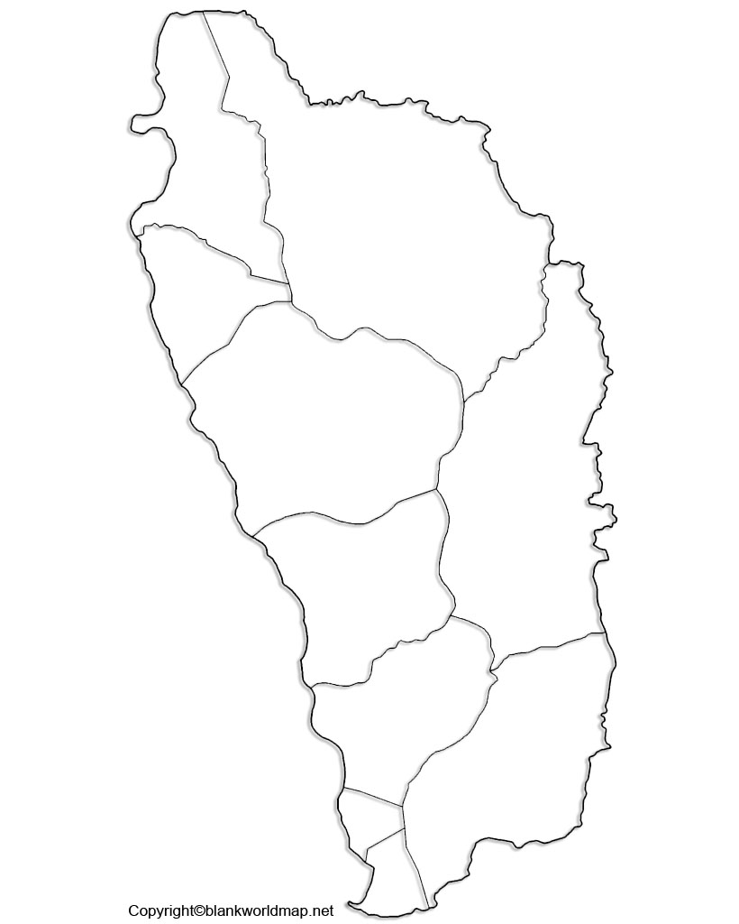 Printable Map of Dominica