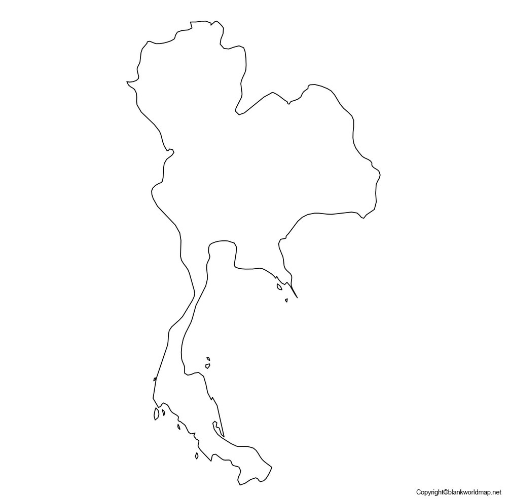 Printable Map of Thailand