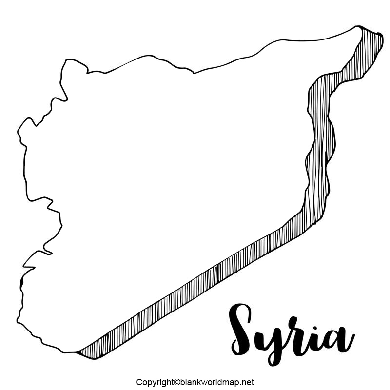 Printable map of Syria