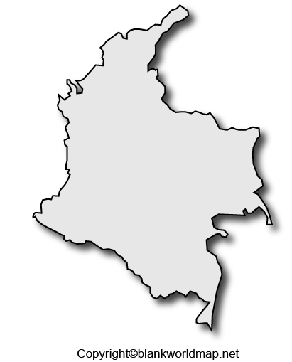 Transparent Colombia PNG Map