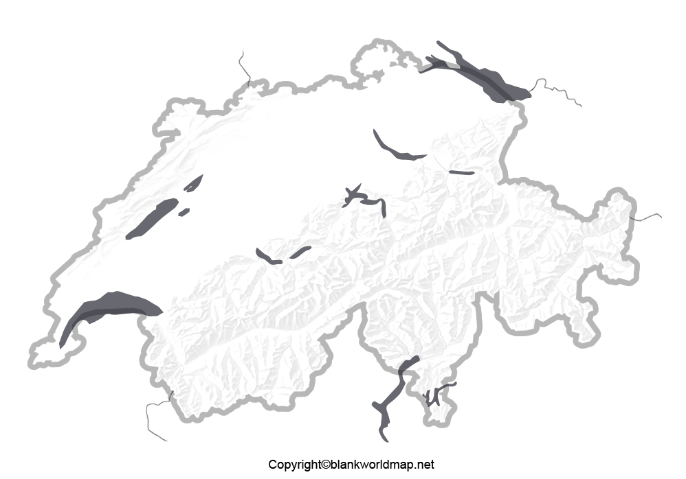 Transparent Switzerland PNG Map