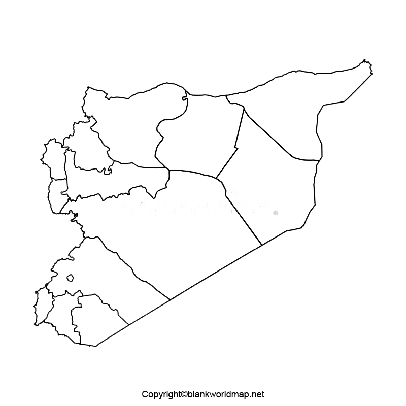 Transparent Syria PNG Map