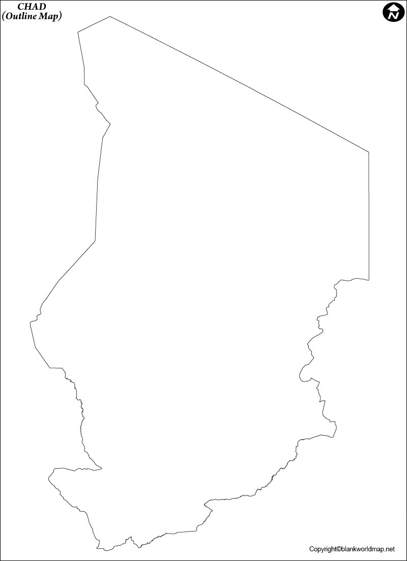 Chad Blank Map Outline