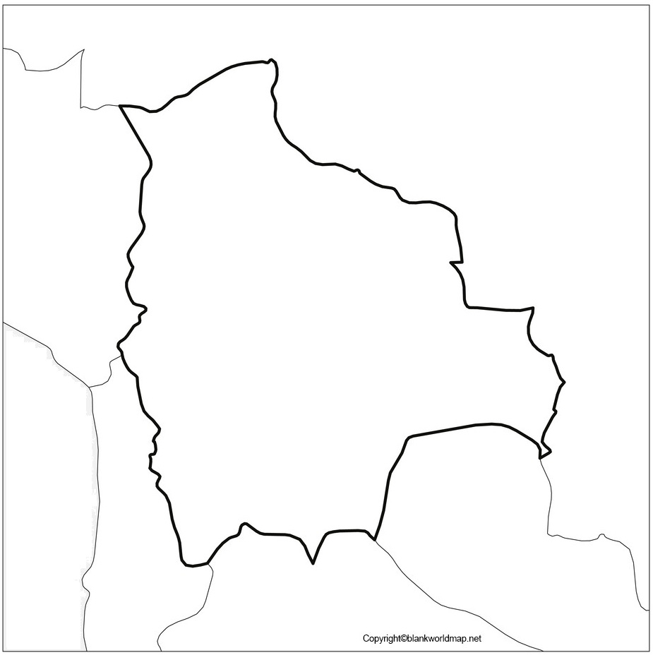 Map of Bolivia for Practice Worksheet