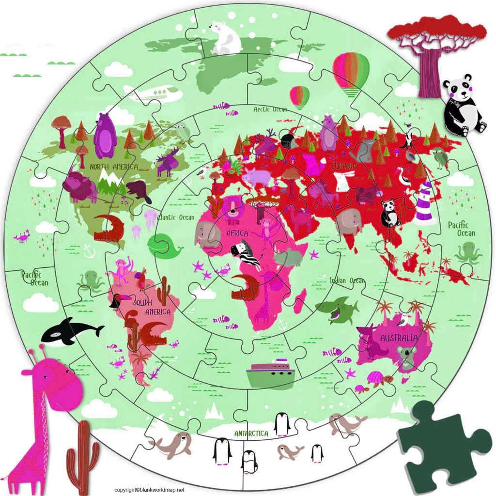 Map of World for Kids