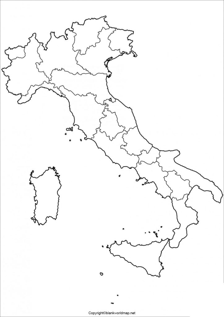 Blank Italy Map - Outline