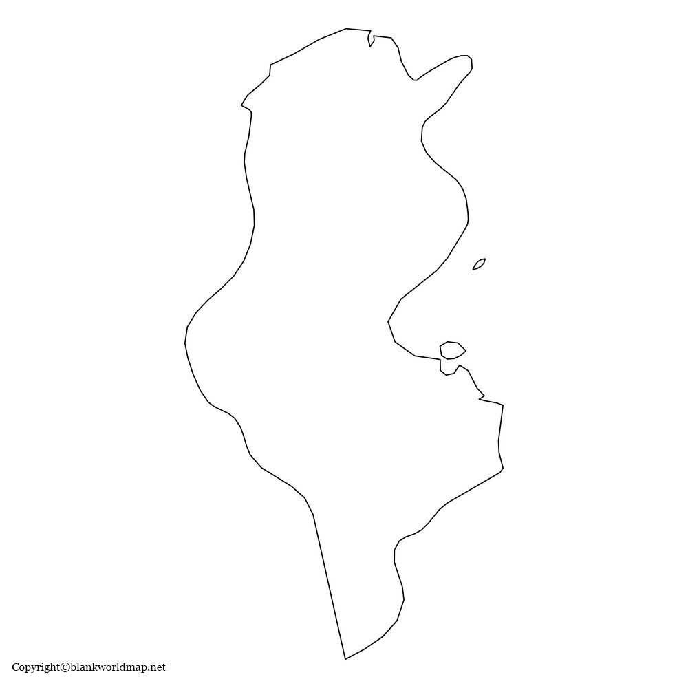 Blank Tunisia Map - Outline